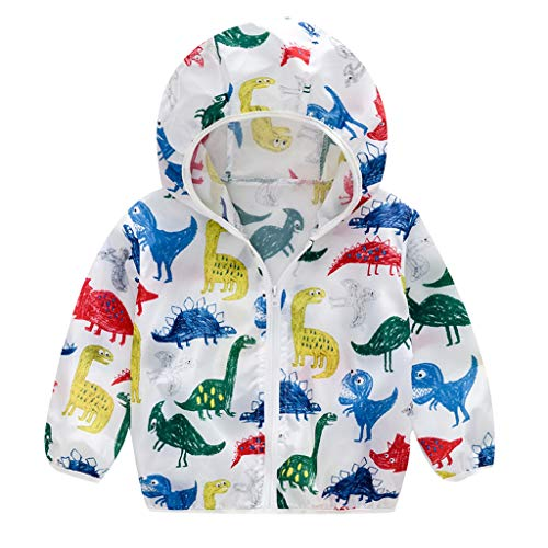 Sunyastor Unisex Kids Sunscreen Protection Hoodie Quick Dry Ultrathin Jacket for Travel Beach Summer Outerwear Zipper - Jacket Stud Hooded Trim