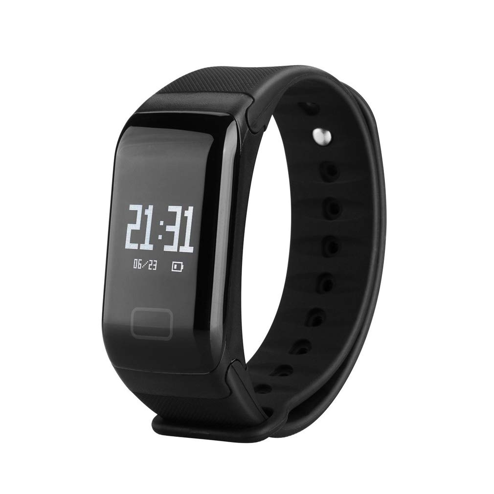 Fitness Tracker,Coolbit Health Activity Tracker Smart Band W/ Heart Rate Blood Pressure Sleep Monitor Wristband Pedometer Calorie Sports Bracelet Message Push Waterproof Smart Watch for Android & IOS