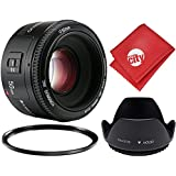 Yongnuo 50mm f/1.8 A FHD Standard Prime Lens for Canon EOS 80D, 77D, 70D, 60D, 50D, 1Ds, 7D, 6D, 5D, 5DS, T7i, T7s, T6s, T6i, T6, T5i, T5, T4i, T3i, T3 and SL1 Digital SLR Cameras