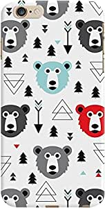 DailyObjects Bears Case For iPhone 6 Plus White/Cream