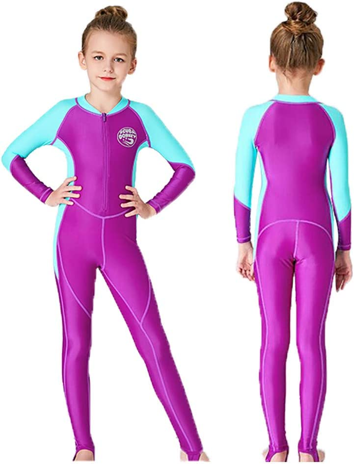 Yliquor Full Body Kids Wetsuit for Swimming//Scuba Diving//Snorkeling//Surfing Sunblock Wetsuit Long Sleeve Wetsuit Shirt One Piece for Scuba DOHKEY