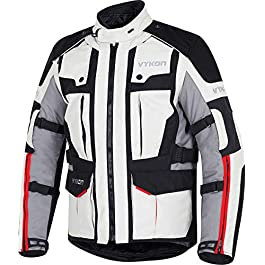 Vykon Navigator Jacket: Black/Grey/Red (Medium)