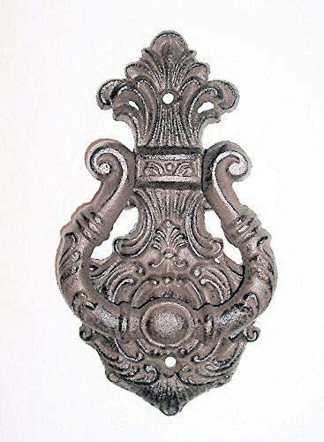 Heavy Cast iron rustic traditional old vintage style RAMS HEAD DOOR KNOCKER