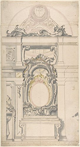 Yellow Scale 18th (Historic Fine Art Print | Italian, Piedmontese, 18th Century | Design for an Altar with a Vaulted Chapel Behind | Vintage Wall Art Décor Poster Reproduction | 16in x 24in)