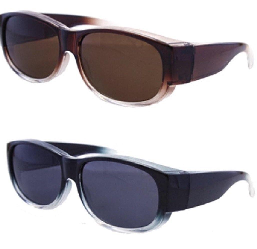 20437227040 Amazon.com  2 Pair Womens Colorful Two Tone Ombre Fit Over Sunglasses -  Wear Over Prescription Glasses - Polarized
