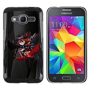LECELL--Funda protectora / Cubierta / Piel For Samsung Galaxy Core Prime -- Espada Chica Sexy Japnese --