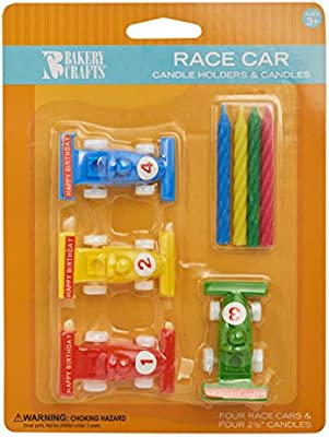 Amazon Race Car Birthday Cake Candle Holders Toys Games
