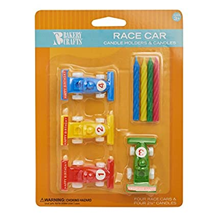 Amazoncom Race Car Birthday Cake Candle Holders Toys Games