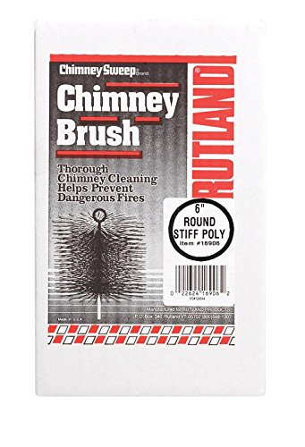 Rutland Products 16906 6-Inch Poly Chimney Cleaning (6 Round Chimney Brush)