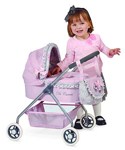 Amazon.es: Jose Cuevas 86019 35 x 51 x 56 cm, carrito de muñecas con bolsa y plegable paraguas: Juguetes y juegos