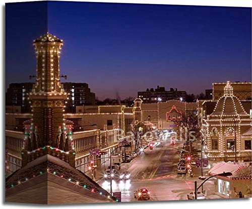 Barewalls Kansas City Plaza Lights Gallery Wrapped Canvas Art - bwc3107121 (6in. x 6in.) ()