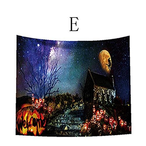 Halloween Wall Hanging Tapestry, Elevin(TM) Castle Skull Ghosts Pumpkin Head Halloween Theme Tapestry -
