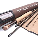 Maxcatch Farglory Fly Fishing Rod 5wt 9'-10'6'' 4-5 sec with 20''Extra Extension Czech