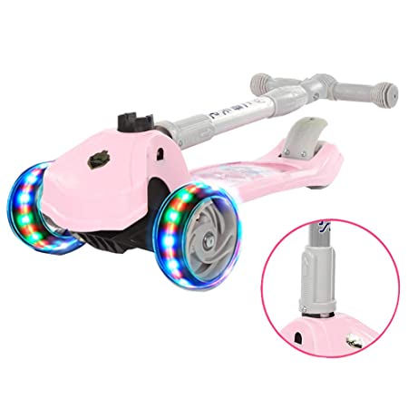 Scooter Patinete Plegable Rosa para niños, Tabla de Ruedas ...