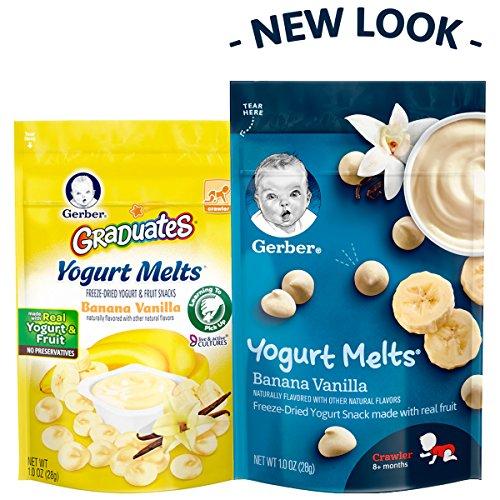 Gerber Yogurt Melts Freeze-Dried Yogurt Snack made with real fruit, Banana Vanilla, 1 oz (Pack of 7) by Gerber Graduates (Image #3)