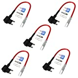 #5: Acarte 12V Car Add-a-circuit Fuse TAP Adapter Mini ATM APM Blade Fuse Holder 15A 5 Pack