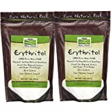 Now Foods Erythritol Natural Sweetener 1 LB (Pack of 2)