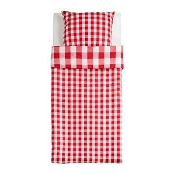 Ikea Svedstarr Bettwascheset In Rot Kariert 100 Baumwolle 2tlg