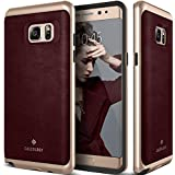 Galaxy Note 7 Case, Caseology® [Envoy Series] Premium PU Leather Cover [Leather Cherry Oak] [Leather Bound] for Samsung Galaxy Note 7 (2016) - Leather Cherry Oak