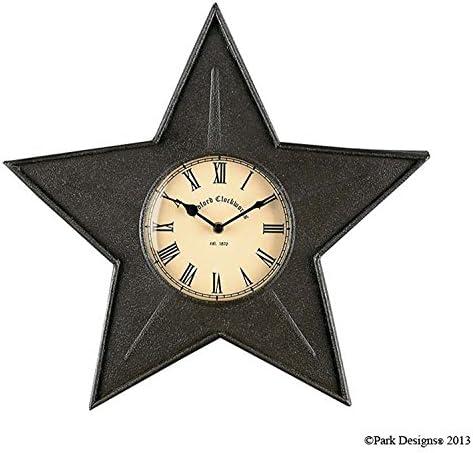 Park Designs Star Metal Clock – Black