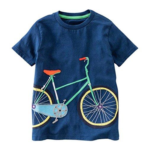 Kids Toddler Girls Summer Cute Cartoon Printed Short Sleeve T-Shirt Tops Clothes for 2 3 4 5 Years FeiliandaJJ Baby Boy Tops
