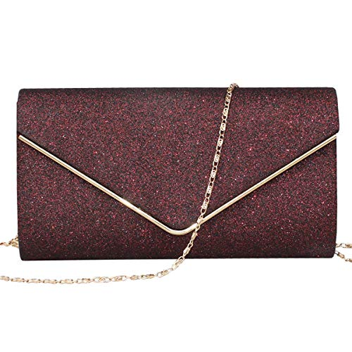 GESU Womens Shining Envelope Clutch Purses Glitter Evening Bag Handbags For Wedding and Party. - Handbag Bag Clutch Shoes Purse