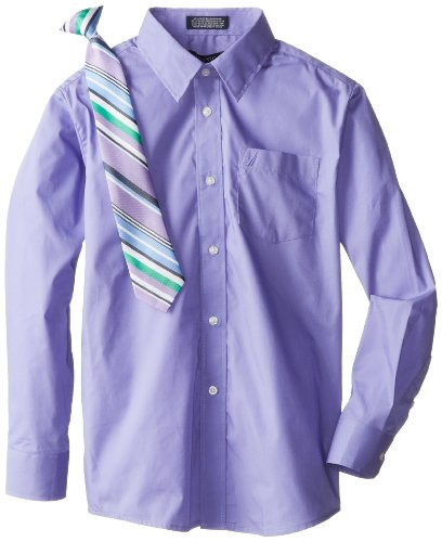 Nautica Dress Up Boys 8-20 Packaged Shirt Sets with Tie, Mid Purple, 08