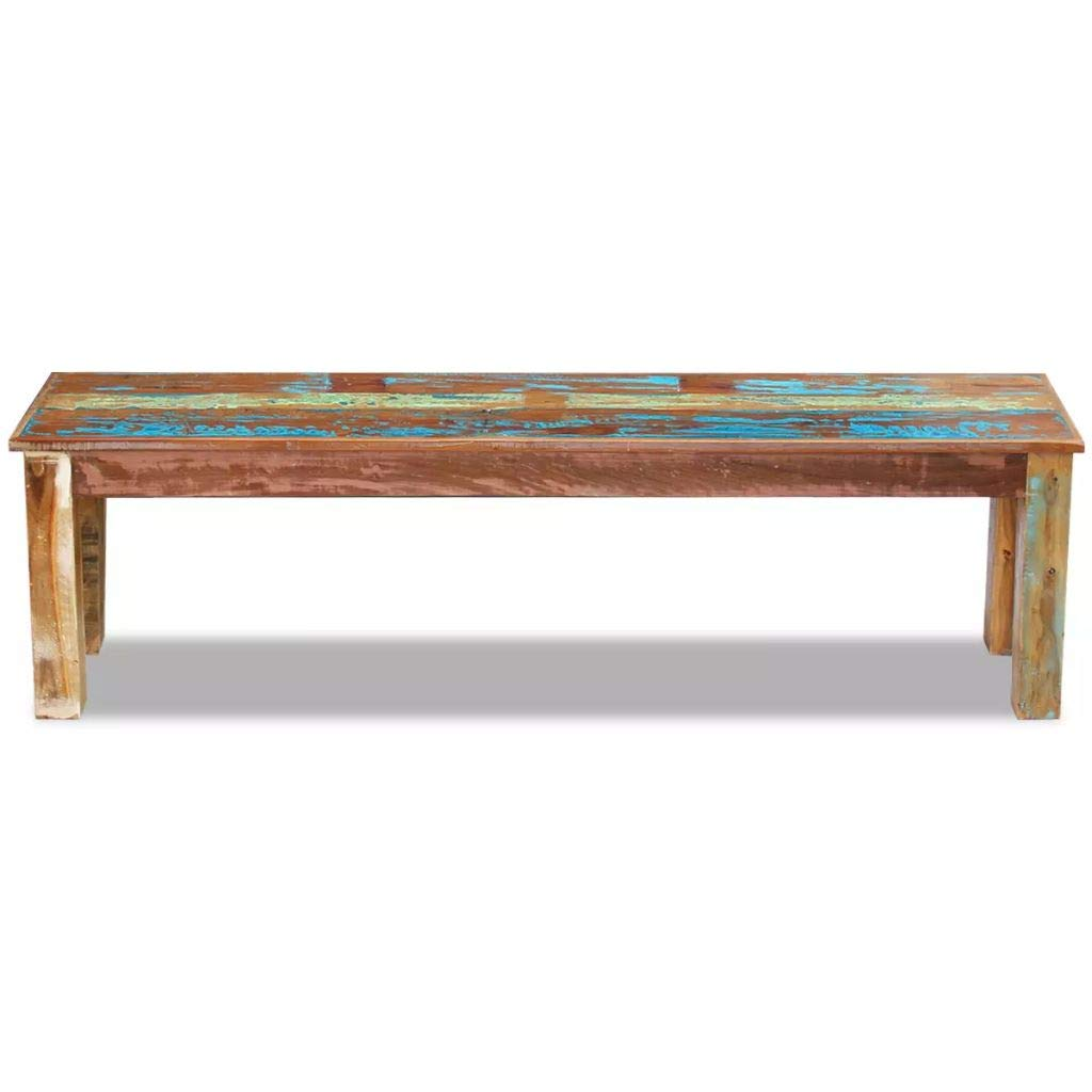 mewmewcat Upgraded Handmade Solid Reclaimed Wood Bench Dining Seats, Home Seat Furniture Hall 63'' 63''x 13.8''x18.1'' by mewmewcat (Image #2)