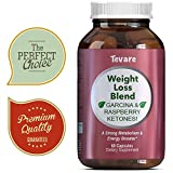 Ketogenic Fat Burner Natural Weight Loss Blend Garcinia Cambogia + Raspberry Ketones Green Coffee Bean Boost Metabolism & Burn Body Fat Antioxidant Rich For Women & Men 60 Capsules By Tevare