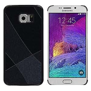 Shell-Star Arte & diseño plástico duro Fundas Cover Cubre Hard Case Cover para Samsung Galaxy S6 EDGE / SM-G925 / SM-G925A / SM-G925T / SM-G925F / SM-G925I ( Gray Tones )