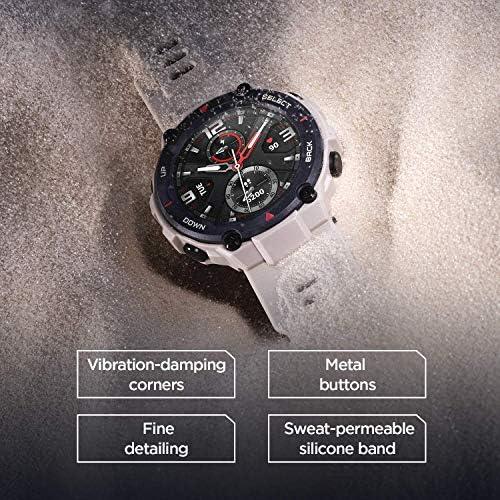 "Amazfit T-Rex Smartwatch, Military Standard Certified, Tough Body, GPS, 20-Day Battery Life, 1.3"" AMOLED Display, Water Resistant, 14-Sports Modes, Khaki (W1919US2N) 51hIjkhUGpL"