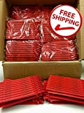1,000 Red Plastic Seals Security Numbered - Trucker or Trailer For standard containers truck – vans – doors – airline – duty-free shops – supermarkets – storage-controlling
