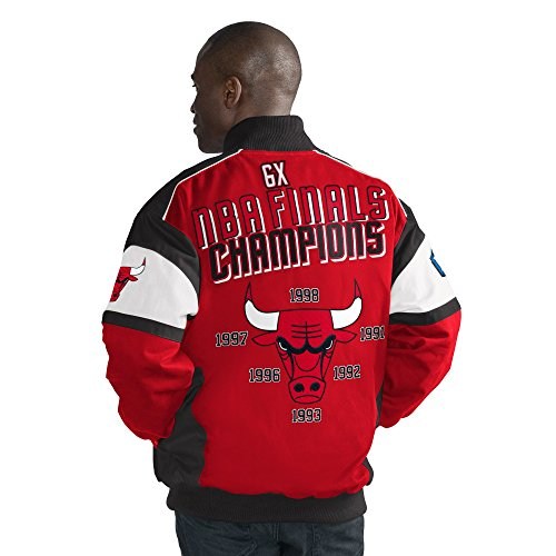 G-III Sports Chicago Bulls Men's Championship Legacy Cotton Twill Jacket