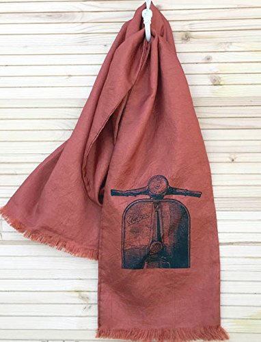 Handmade Scooter Scarf Silky Vespa Style (Terra Cotta)