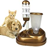 Westspark Pet Cafe Feeder Self-Dispensing Food Gravity Automatic Replendish station Waterer for Dog Cat Animal puppy Dry Food Storage Bottle Bowl Dish Stand