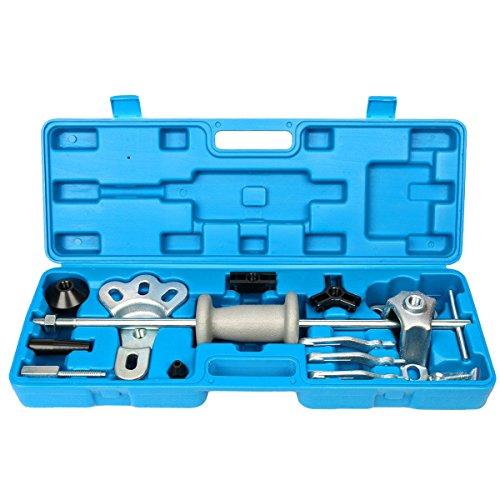 8MILELAKE 9 Way Slide Hammer Axle Bearing Dent Hub Gear Puller Set ()
