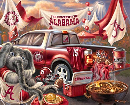 - Prints Charming NCAA Alabama Crimson Tide Tailgate Party Wooden Sign