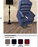 "Pride Home Decor Collection NM-435, 3-Position Lift Chair Recliner, Best for 5'4"" - 6'0"" in height: Wide 20 inch Seat (Navy)"