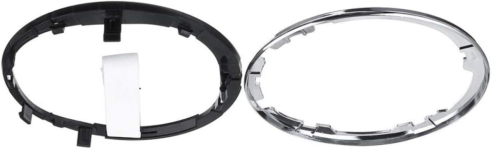 YXSMNB Car Gear Gaiter Boot Cover Ring Gear Shift Knob Stick Lever Frame,For Fiat 500 500c 2007-2015