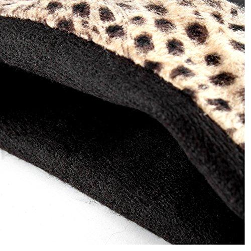 Pull Women COOLCEPT Black Warm Boots Flatform On q8dw6IZxd