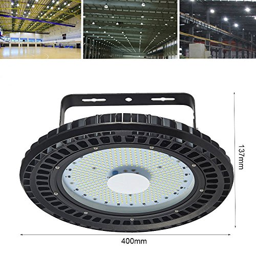 Viugreum 200W UFO LED High Bay Lighting, 24000LM, Daylight White(6000-6500K), Commercial Industrial Chandelier for Factory, Warehouse, Workshop, Gymnasium, Basement Parking,Ship from USA by Viugreum (Image #1)