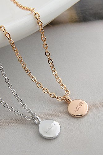 Thai Love Your Unique Lady Luck Necklace Pendant Women Girls Short Clavicle Chain Jewelry Accessories Elegant Birthday Gift by PAGIPEN