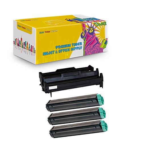 B4350 Series (New York TonerTM New Compatible 4 Pack B4200 (1 Drum + 3 Toner) High Yield for OKI B Series: B4100 | B4200 | B4250 | B4300 | B4300n | B4350 | B4350n. --Black)