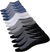 No Show Socks Men Cotton Low Cut Socks Men's Non-Slip Grips Casual Low Cut Boat Sock Size 6-11, 6 Pairs