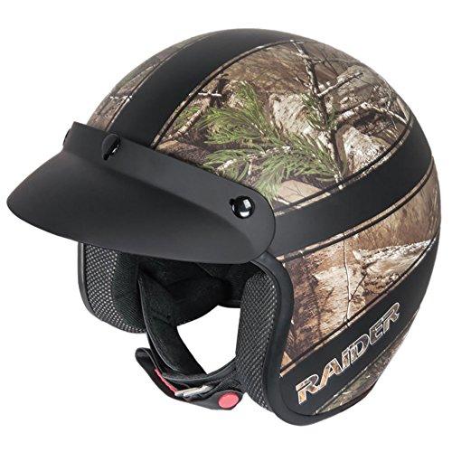 Raider Adult Ambush Open Face Helmet (Realtree Xtra, (Raider Atv Helmets)
