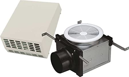Systemair PBW110 4 Duct a 110 Cfm Bath Fan Vent Only Ceiling Grille, Exterior Mount