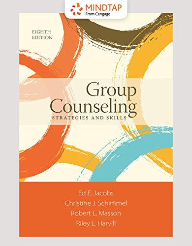 MindTap Counseling, 1 term (6 months) Printed Access Card for Jacobs/Schimmel/Masson/Harvill's Group Counseling, 8th