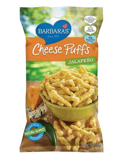 Barbara's Bakery Cheese Puffs Jalapeno -- 7 oz - 3PC