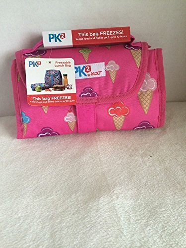 packit-pk2-packable-freezable-lunch-bag-keeps-food-drinks-cool-10-hrs-nwt-hot-pink-with-ice-cream-co
