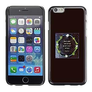 Cubierta de la caja de protección la piel dura para el Apple iPhone 6PLUS (5.5) - wreath god black poster Christian quote
